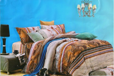 Maxx Home Cotton Striped Queen sized Double Bedsheet