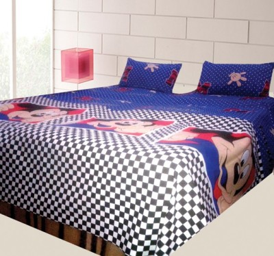 Ashvridh Cotton Cartoon Queen sized Double Bedsheet