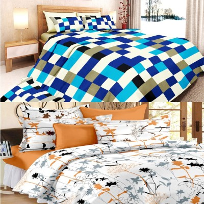 Always Plus Cotton Abstract Queen sized Double Bedsheet