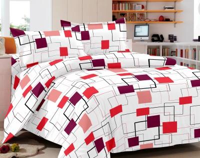 Home Castle Cotton Checkered Double Bedsheet