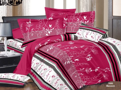 Vastra Buzz Cotton Floral King sized Double Bedsheet