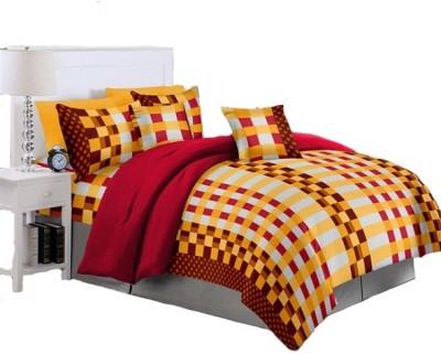 NIVRATI Cotton Checkered Double Bedsheet