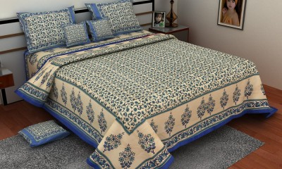 Om Prints Cotton Floral Single Bedsheet