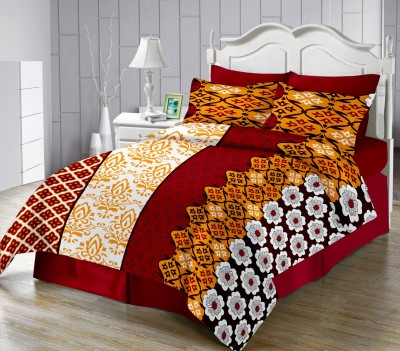 LISSOME Satin Abstract King sized Double Bedsheet