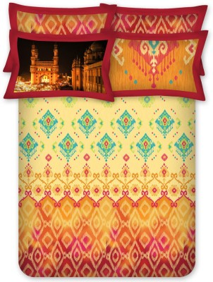 Bombay Dyeing Cotton Printed King sized Double Bedsheet