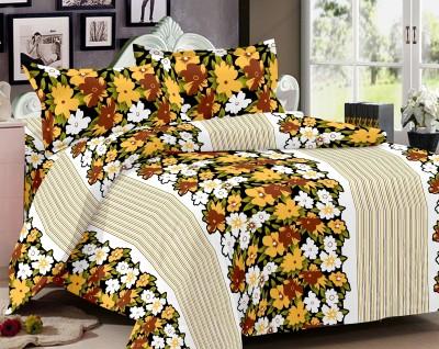 Home Castle Cotton Floral Double Bedsheet