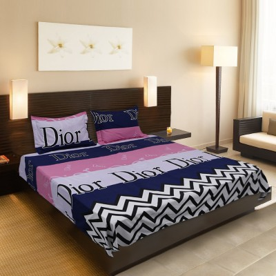 Smooth Cotton Silk Blend Printed Queen sized Double Bedsheet