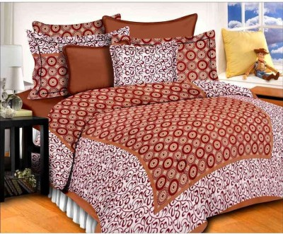Bombey daying Cotton Floral Double Bedsheet