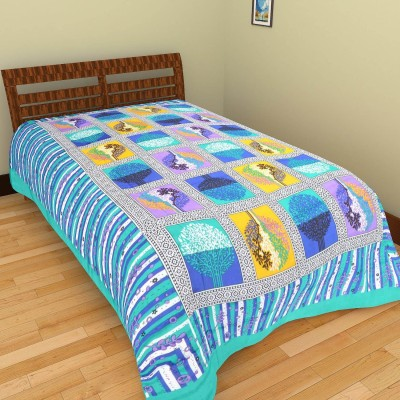 GRJ India Cotton Abstract Single Bedsheet