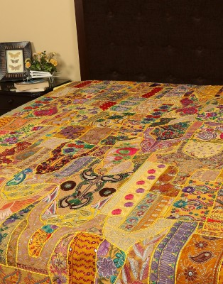 Rajrang Cotton Embroidered Double Bedsheet