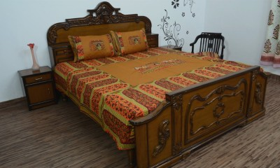 Ethnic Rajasthan Cotton Abstract Double Bedsheet