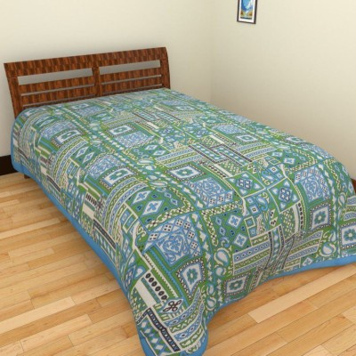 Shivie Cotton Abstract Single Bedsheet