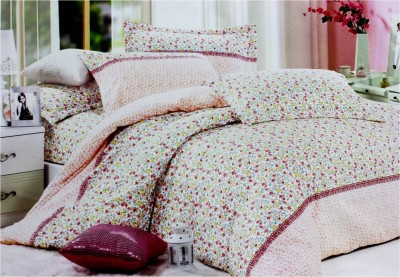 Lilac Loom Polycotton Floral Double Bedsheet