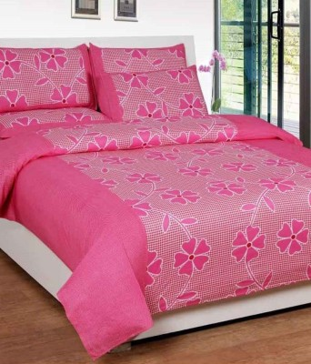 ZirconHomes Cotton Floral King sized Double Bedsheet