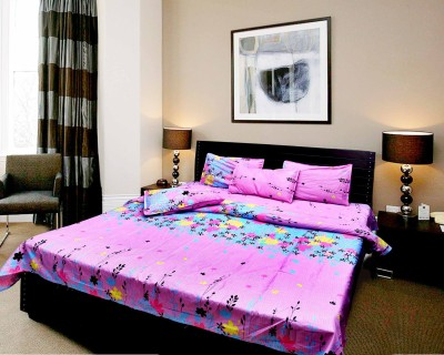 Angel Homes Polycotton Floral Double Bedsheet