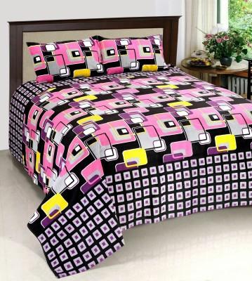 JMD Cotton Geometric Double Bedsheet