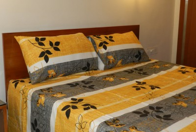 CocoBee Cotton Floral Double Bedsheet