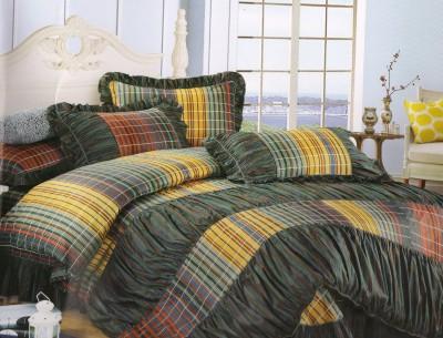 Shopgalore Cotton Striped Double Bedsheet