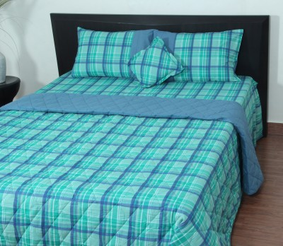Thuhil Cotton Checkered King sized Double Bedsheet