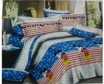Nshell Cotton Cartoon Queen sized Double Bedsheet
