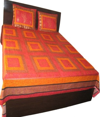 Charu Exports Cotton Floral King sized Double Bedsheet