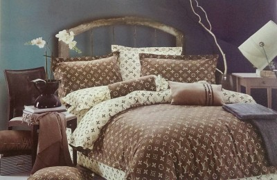 Vibha Creations Cotton Printed Double Bedsheet
