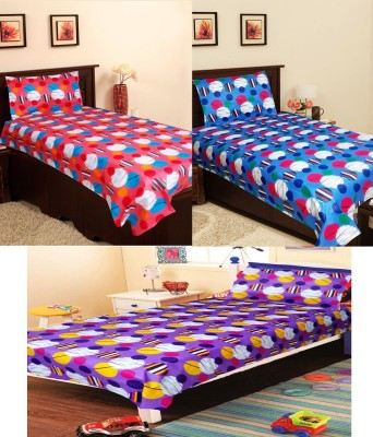 Homefab India Cotton Floral Single Bedsheet