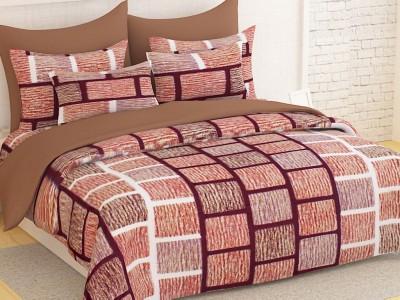 Ahem Homes Cotton Striped Double Bedsheet