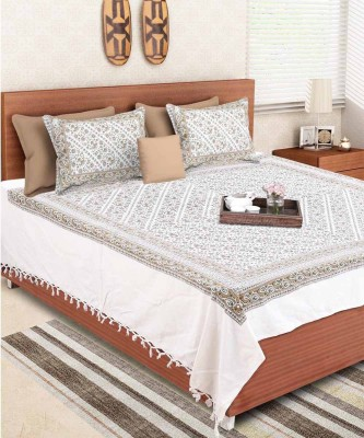 VarEesha Cotton Floral Double Bedsheet