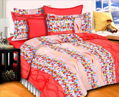 SurprizeMe Cotton Abstract Double Bedsheet