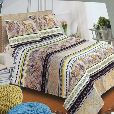 Creativezone Cotton Abstract King sized Double Bedsheet