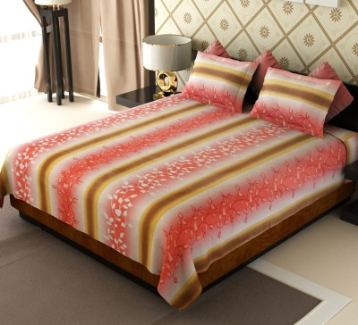 Amethyst Cotton Striped Double Bedsheet