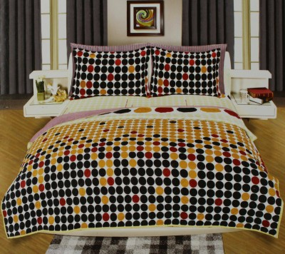 Onlinemaniya Cotton Floral King sized Double Bedsheet