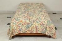 Bhavya International Cotton Printed Single Bedsheet(1 Bedsheet, Cream)