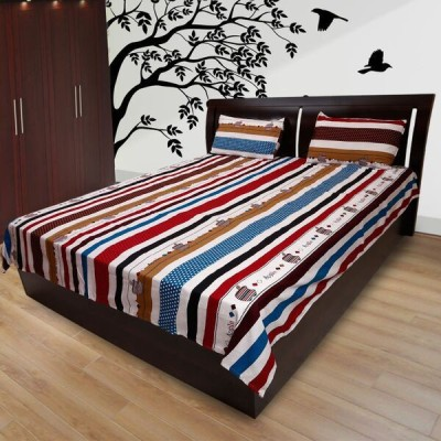 Comfortica Collections Cotton Abstract Double Bedsheet