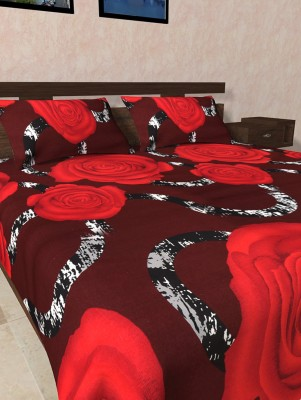 Firangi Cotton Floral Double Bedsheet