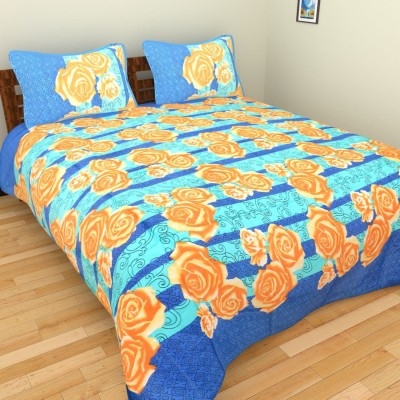 LAVINI COLLECTIONS Cotton Floral Double Bedsheet