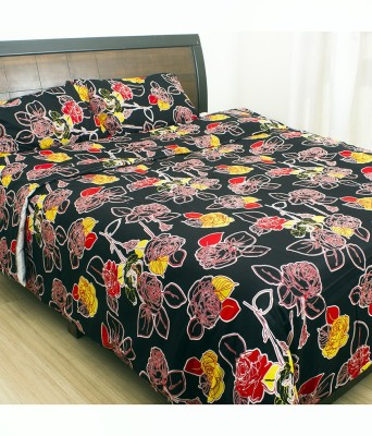Insignia Cotton Floral Double Bedsheet