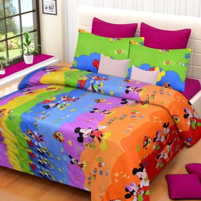 Home Elite Polyester 3D Printed Double Bedsheet
