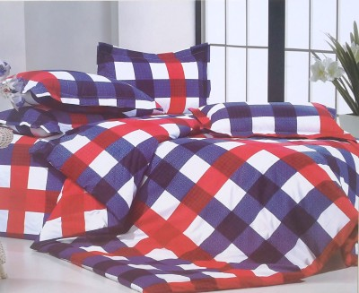 Solitaire Polycotton Checkered Double Bedsheet