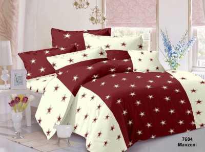 CORAL BELLS Cotton Abstract Double Bedsheet