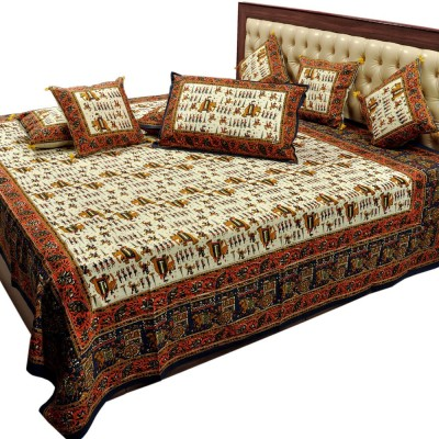 Sovam International Cotton Embroidered Double Bedsheet