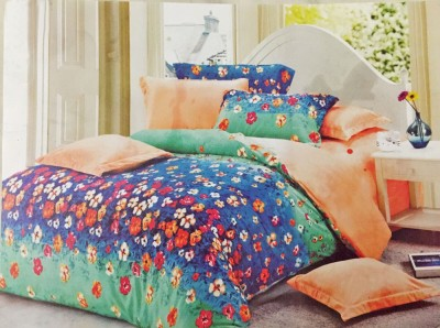 Orient Home Polyester Floral Double Bedsheet