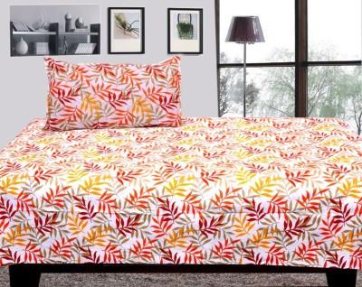Handloomdaddy Cotton Floral Single Bedsheet