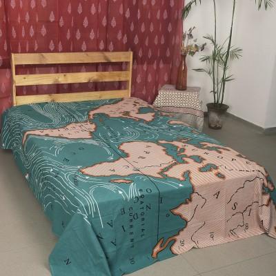 Ocean Home Store Cotton Self Design Queen sized Double Bedsheet