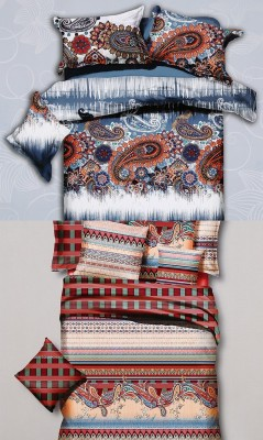 Home Basics Polycotton Paisley King sized Double Bedsheet
