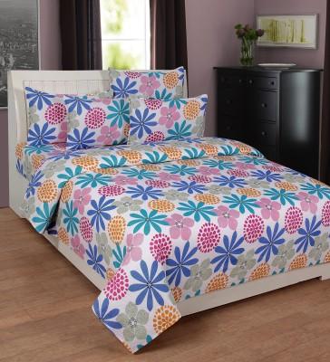 Zesture Cotton Printed Double Bedsheet