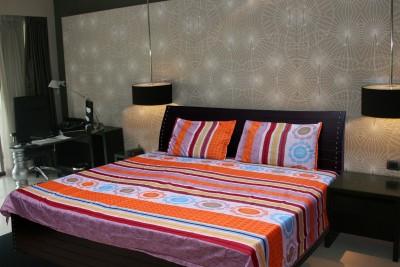 K Decor Polycotton Floral Double Bedsheet