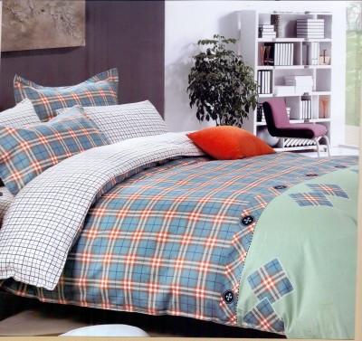 Ross Luxury Living Cotton Checkered Single Bedsheet