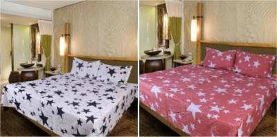 Krishnam Cotton Geometric Double Bedsheet